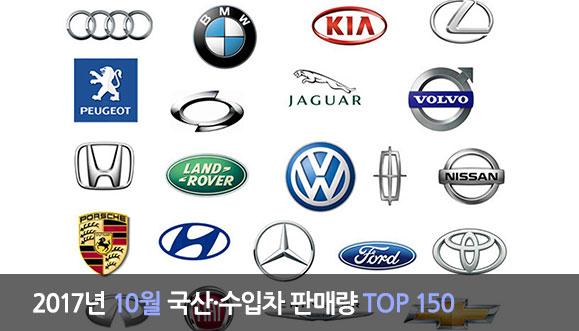 2017년 10월 국산·수입차 판매량 TOP 150