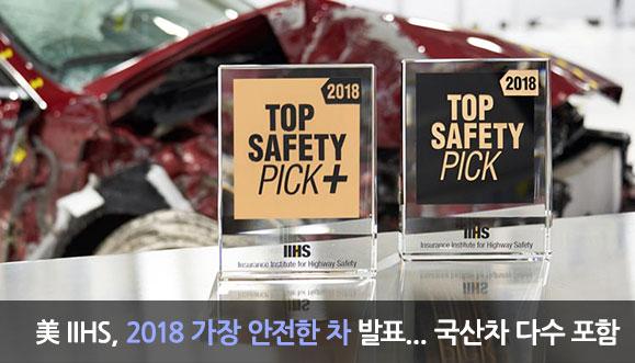 美 IIHS, 2018 가장 안전한 차 발표
