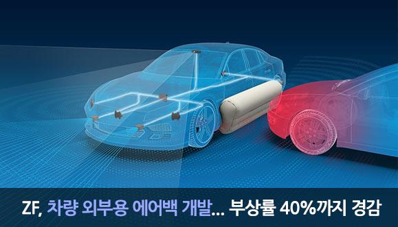 ZF, 차량 외부용 에어백 개발... 부상률 40%까지 경감